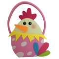 Colourful Easter chick shape candy gift bag