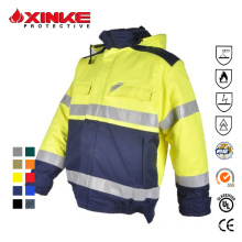 Internationella certifieringar Hi Vis Safety Workwear Jacket