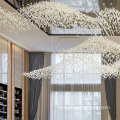 Corridor bar Luxury hotel  led chandelier light