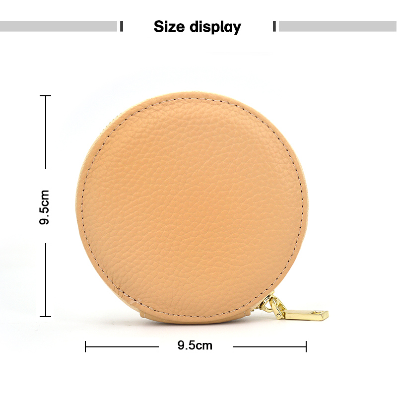 Customized Promotional Kids Pu Leather Zipper Coin Purse