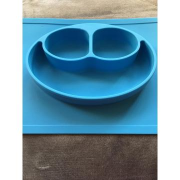 Baby proof silicone table mat bowls