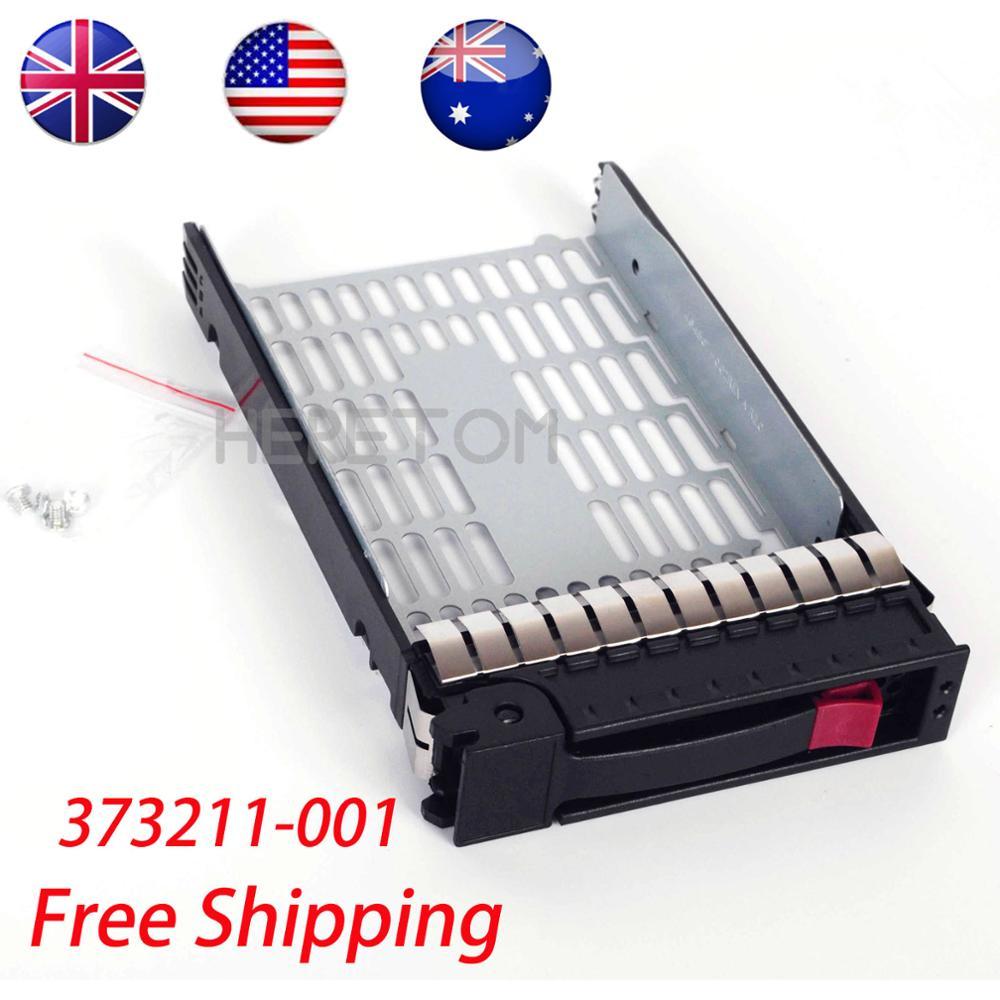 """US/UK/AU Shipping 373211-001 3.5"""" SATA SAS hdd Tray Caddy for hp Proliant g6 ML350 ML370 DL380 G6 hdd Enclosure"""
