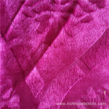 Fashion Velvet African Garment Fabric Knitted 100% Polyester