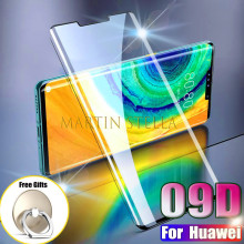 9D Full Cover Tempered Glass For Huawei Mate 30 Pro 20 Lite Screen Protector For Huawei P20 Lite P30 P40 Pro Plus 10H Glass Film
