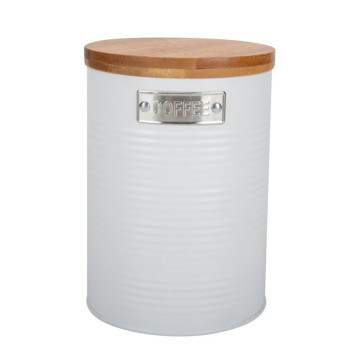 Food Storage Jar with Airtight Seal Bamboo Lid