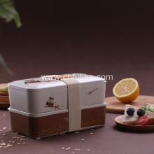 Owl Pattern Bamboo Food Container Box
