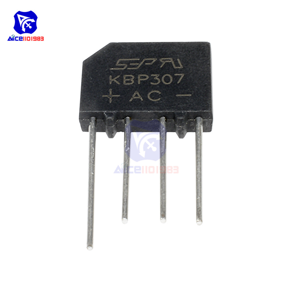 10 PCS/Lot IC Chips KBP307 SIP-4 3A 1000V Bridge Rectifier Diode Original Integrated Circuit