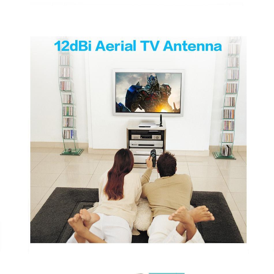 HobbyLane 12dBi TV Antenna for DVB-T TV HDTV Digital Freeview HDTV Antenna TV Coaxial Male connector d15