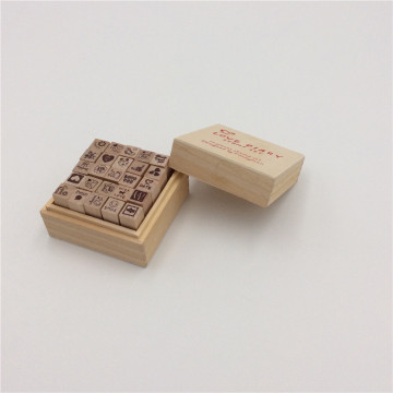 wooden rubber stamp storage