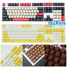 104 Keys PBT Assorted Color Universal Keycaps for Cherry MX Mechanical Keyboard 2020 new