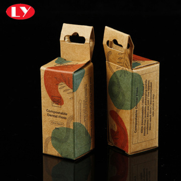 Custom printing kraft paper box hanging handle