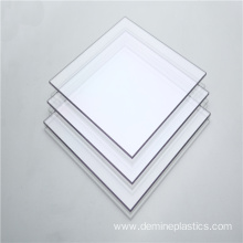 Hot sale 4mm glossy clear solid polycarbonate sheet