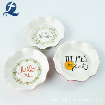 Customization Fine Applique Fruit Ceramic Plate