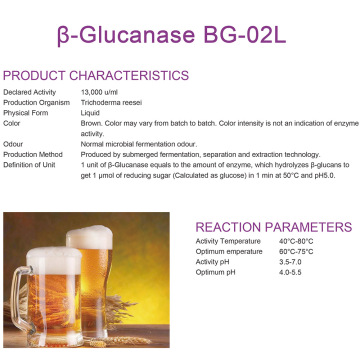 β-Glucanase for brew industry