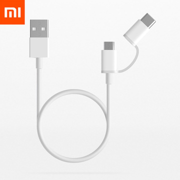 Original Xiaomi 2 in 1 USB Micro Type-C Cable 100cm Sync Safe Fast Quick Charger Data Type C Charging Cable 30cm Charger Cable