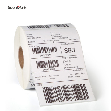 Self adhesive blank postage shipping label roll