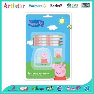 Peppa Pig 6-piece crayon blister card set