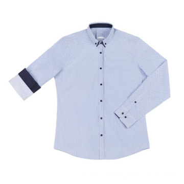 New design men's woven cotton shirt