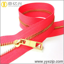 gold plating no.5 Y teeth metal zipper