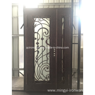 Laser Cut Iron Single Door with Sidelight