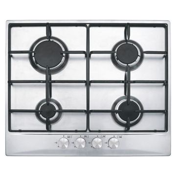4-Burner Steel Hob Enamel Pan Supports