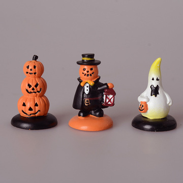 Halloween Decoration Ghost Pumpkin Lantern Clown Miniature Figurine Fairy Garden Ornament Resin Craft DIY Home Decor Accessories