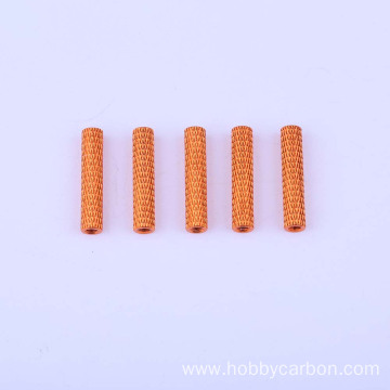 OEM Fasteners CNC Colored Round Spacer Knurled Standoff