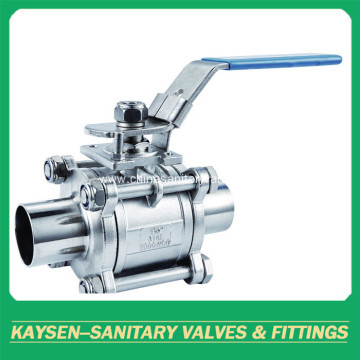 3A Sanitary 3PC welded non-retention Ball Valve