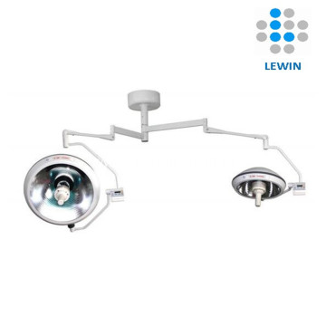 Double dome halogen operating lamp with UPS camera