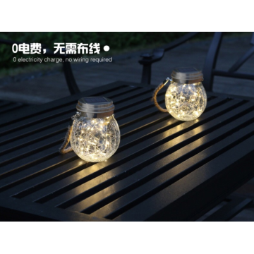 LED solar wishing bottle hanging lamp