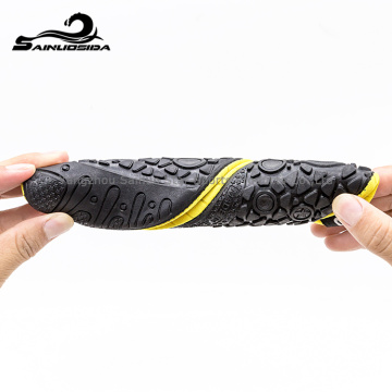 yellow neoprene waterproof diving shoes