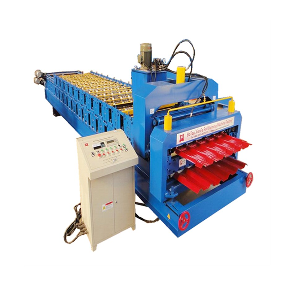 IBR Double Galvanized Roofing Sheet Roll Forming Machine