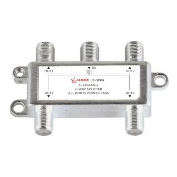 Coaxial Splitter Professional Portable Satellite TV Receiver Antenna Switcher HD 4 Channel For SATV CATV Digital Signal