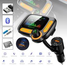Bluetooth FM Transmitter for Car with Dual USB Charging Ports(2.4A+QC3.0) Hands-Free Car Charger Radio Receiver MP3 Player