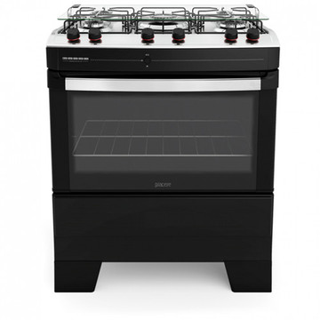 Floor Gas Cooker Black Oven
