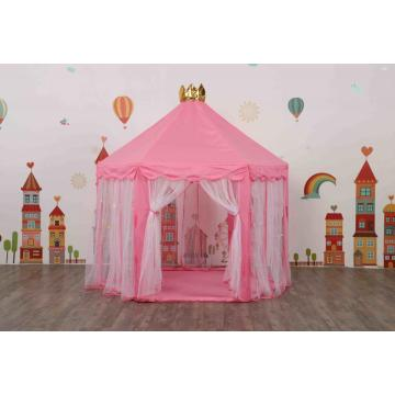 Beautiful Pink Kids Castle Play Tent