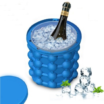 Portable Silicone Ice Bucket Cup Food Grade Big Frozen Red Wine Coke Cooling Storage Tube Odorless Container Double Layer