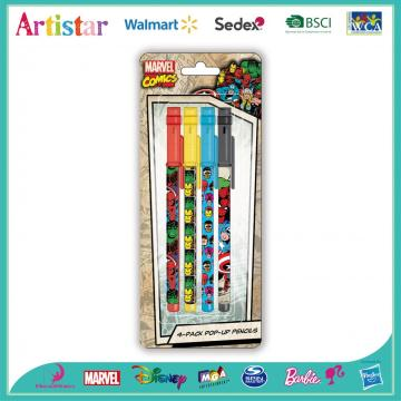Marvel 4-pack pop-up pencils