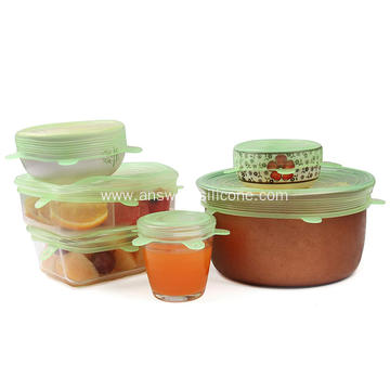 Food Grade Silicone Stretch Lids Cover for Bowls/Cups