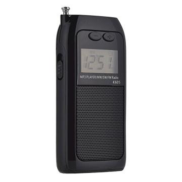 K605 Mini Pocket Radio STEREO FM AM SW MW Digital Tuning Radio Receiver MP3 Music Player Rechargeable Battery Portable Radio