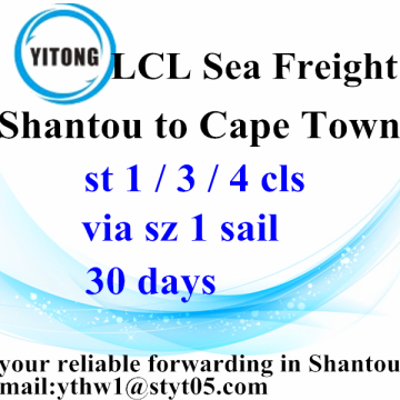 Shantou Combined Transport to Cape Town