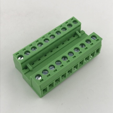 male and female pluggable terminal block