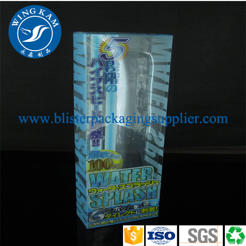 Shining Small Rectangle Sky Blue Color Plastic Folding Packaging