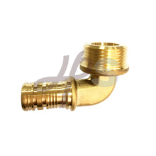 Brass PEX male elbow