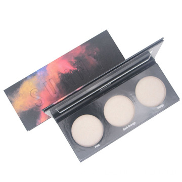 Beauty glazed powder palette cosmetic paper box