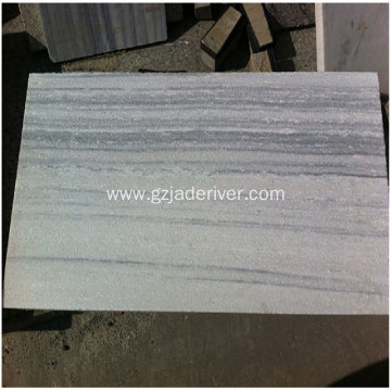 Natural White Wood Grain Marble Wood Grain Plate