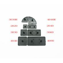 50pcs/lot CNC 3D Printer Parts Plastic End Cap Cover Plate black for EU Aluminum Profile 2020/2040/3030/3060/4040 nylon Endcap
