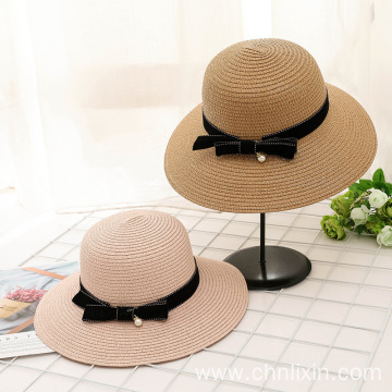 Gently lady summer vacation straw hat