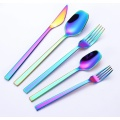 Wholesale Stainless Steel Gold Plated Wedding Flatware Set
