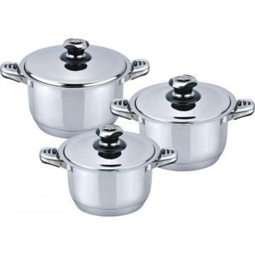 Wide edge 6pcs misen cookware set